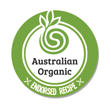 Australian Organic Recipe Creation Endorsed Badge NEW