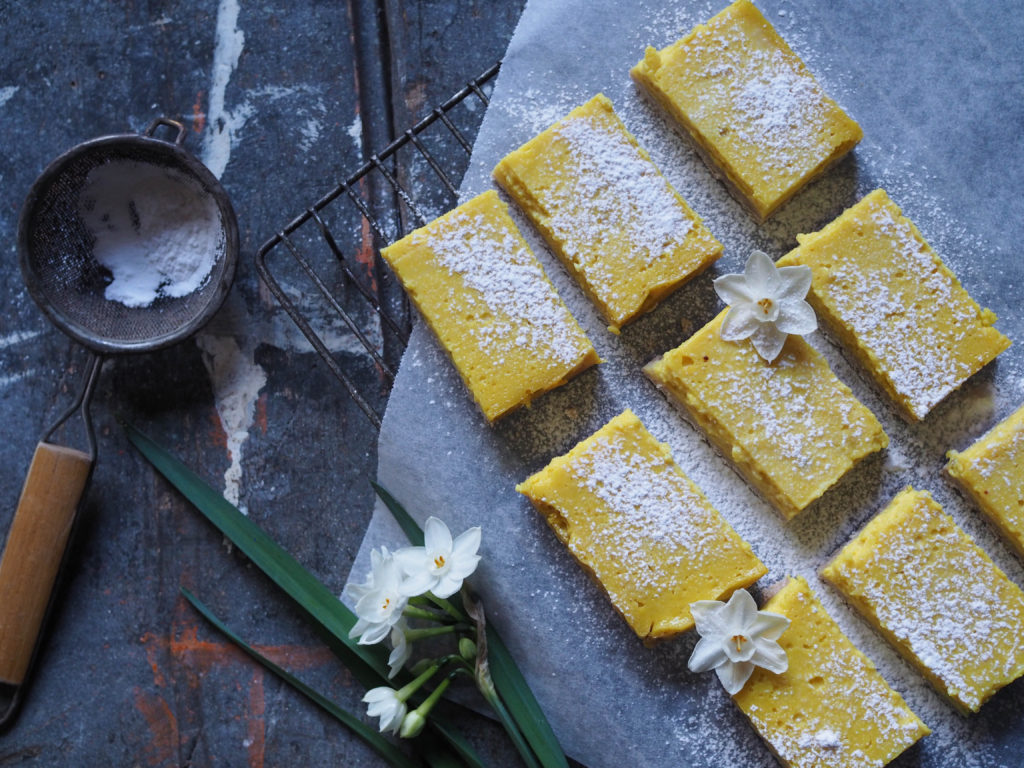 zesty vegan lemon slice